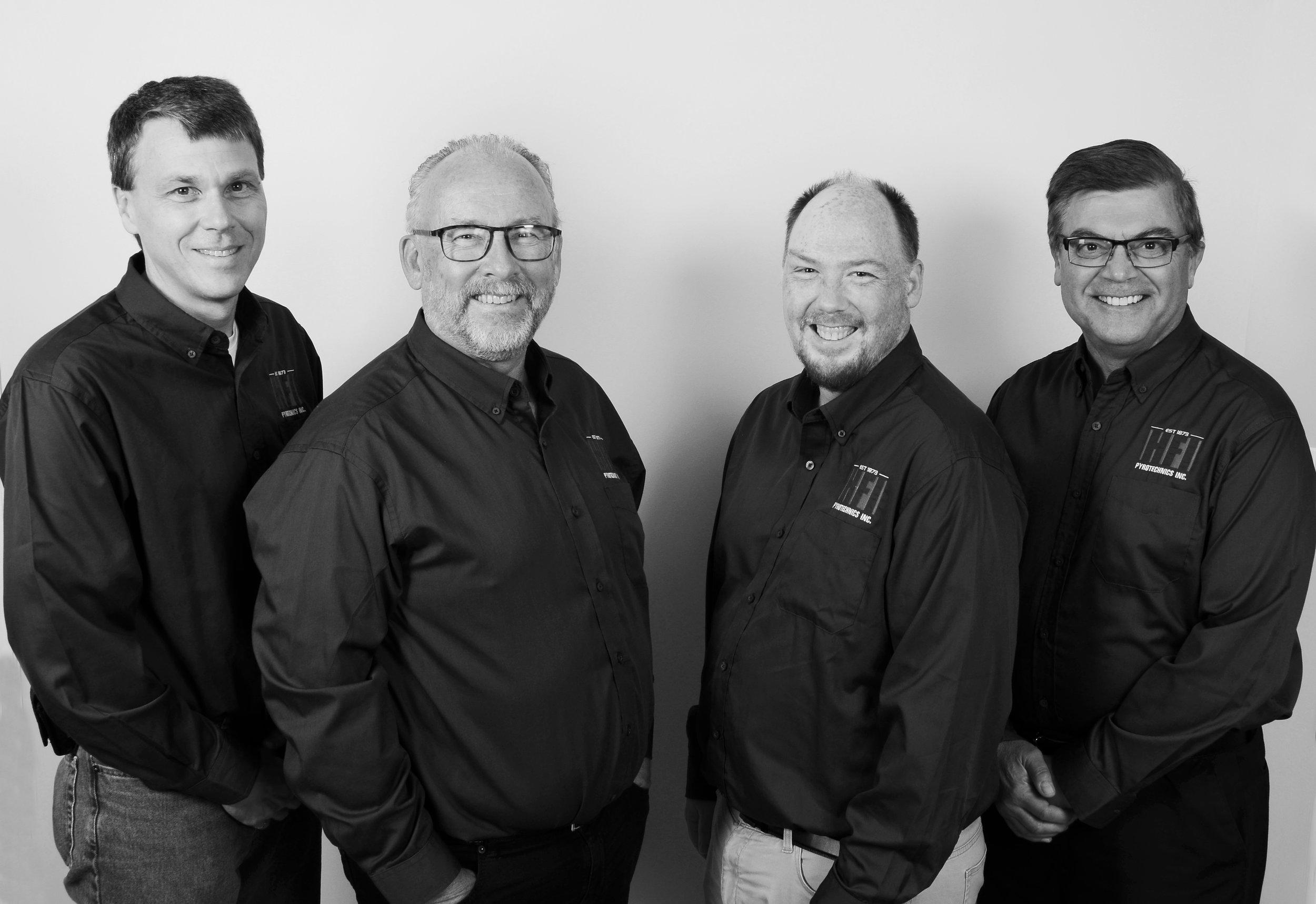 L-R John Houston, John Witherspoon, Marcus Shaw and Bob Jurkewycz