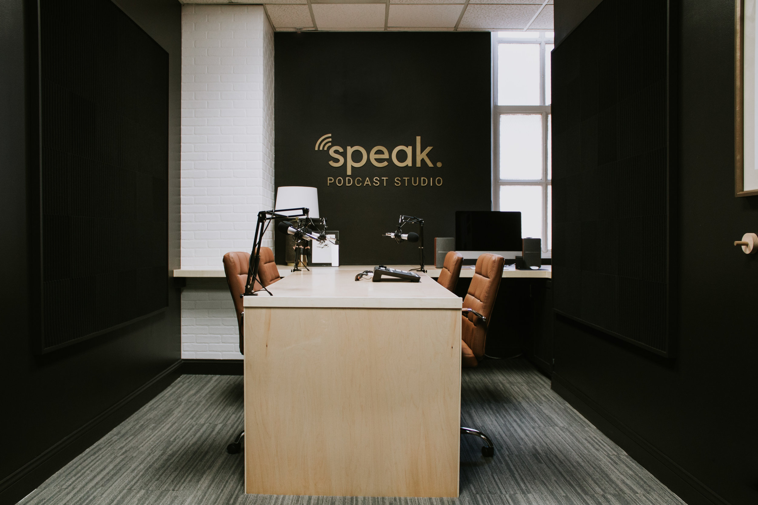 Speak Podcast Studio - A podcast recording studio located in Lincoln Nebraska. Record your podcast or audio in our studio.
