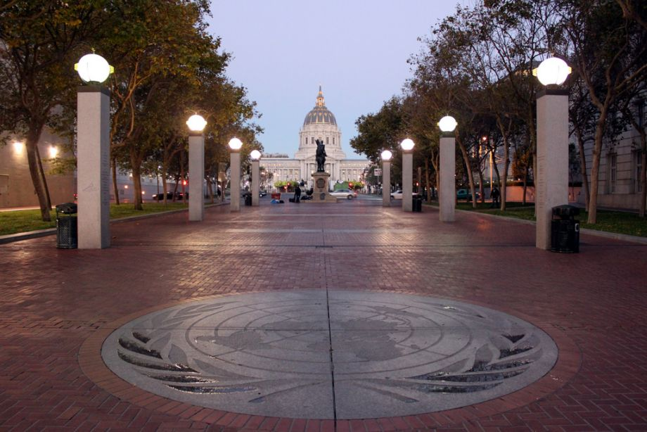 UN PLAZA   San Francisco Is Redesigning City Hall Plaza Into a Space for All. Now a slate of new initiatives may transform UN and Civic Center Plazas, and the spaces between them, this time with inclusivity as a specific goal.