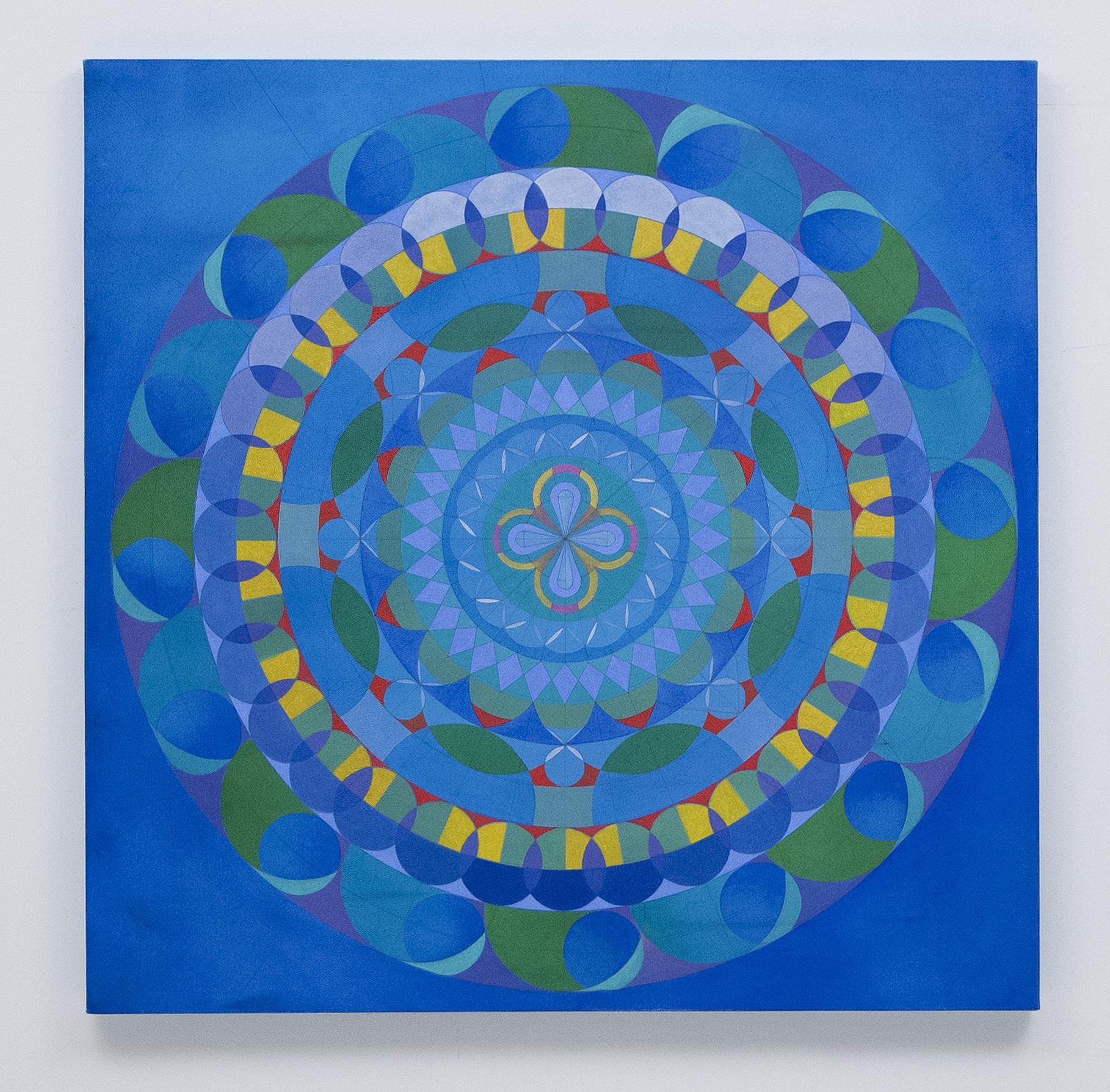Blue Pop Mandala