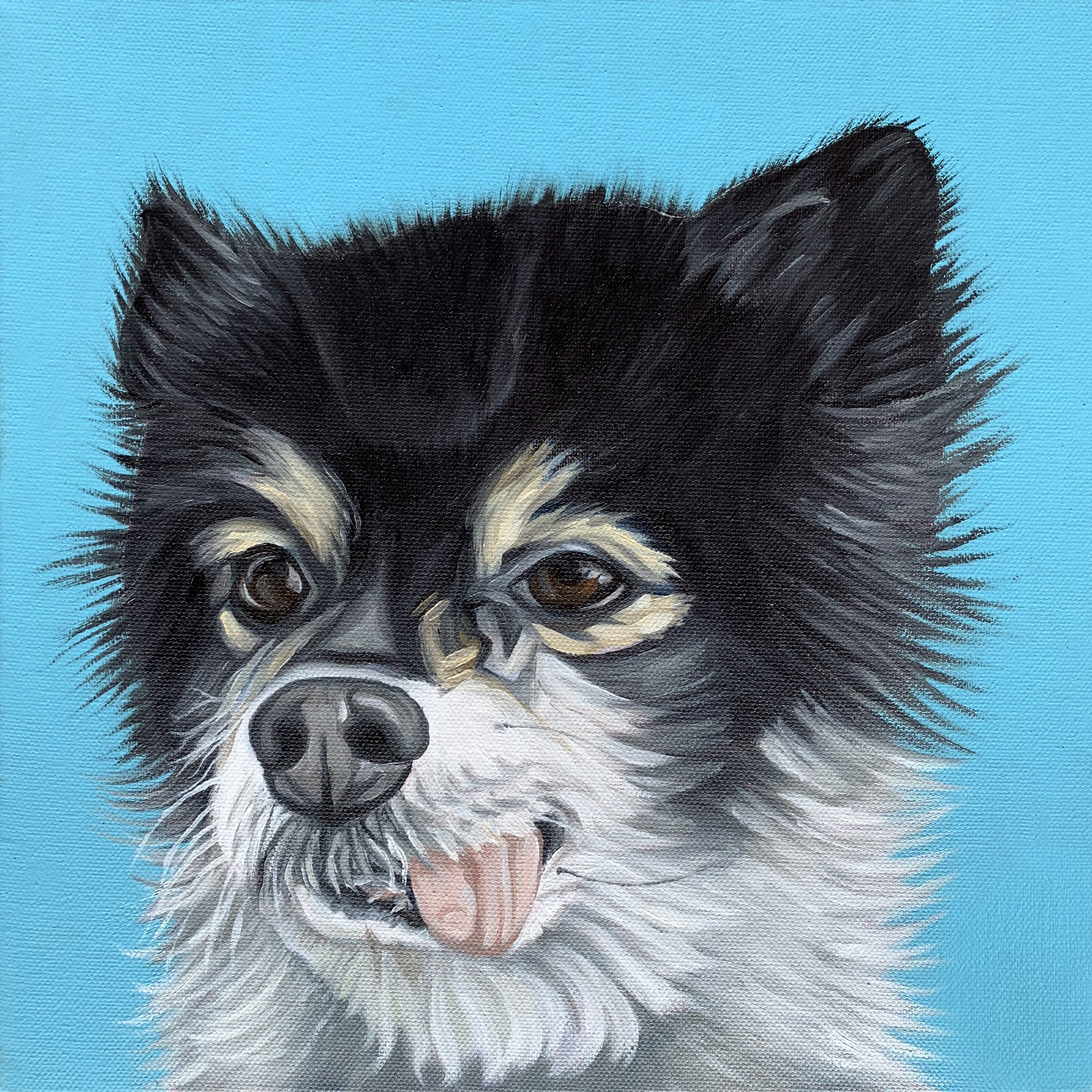Recently completed for very happy clients. 'Frodo', oil on canvas.