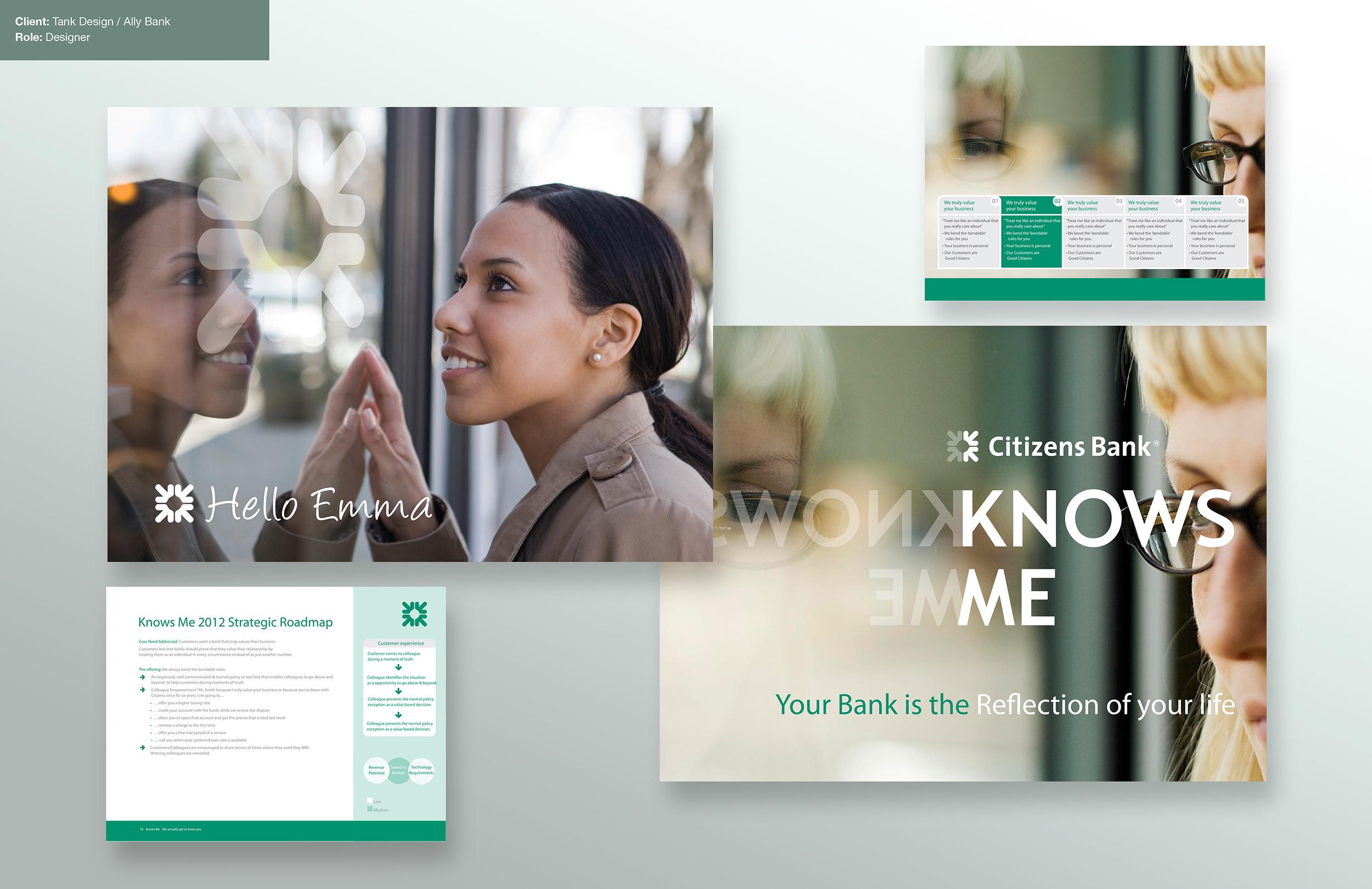 Advertising design for Citizen Bank. Tank Design.