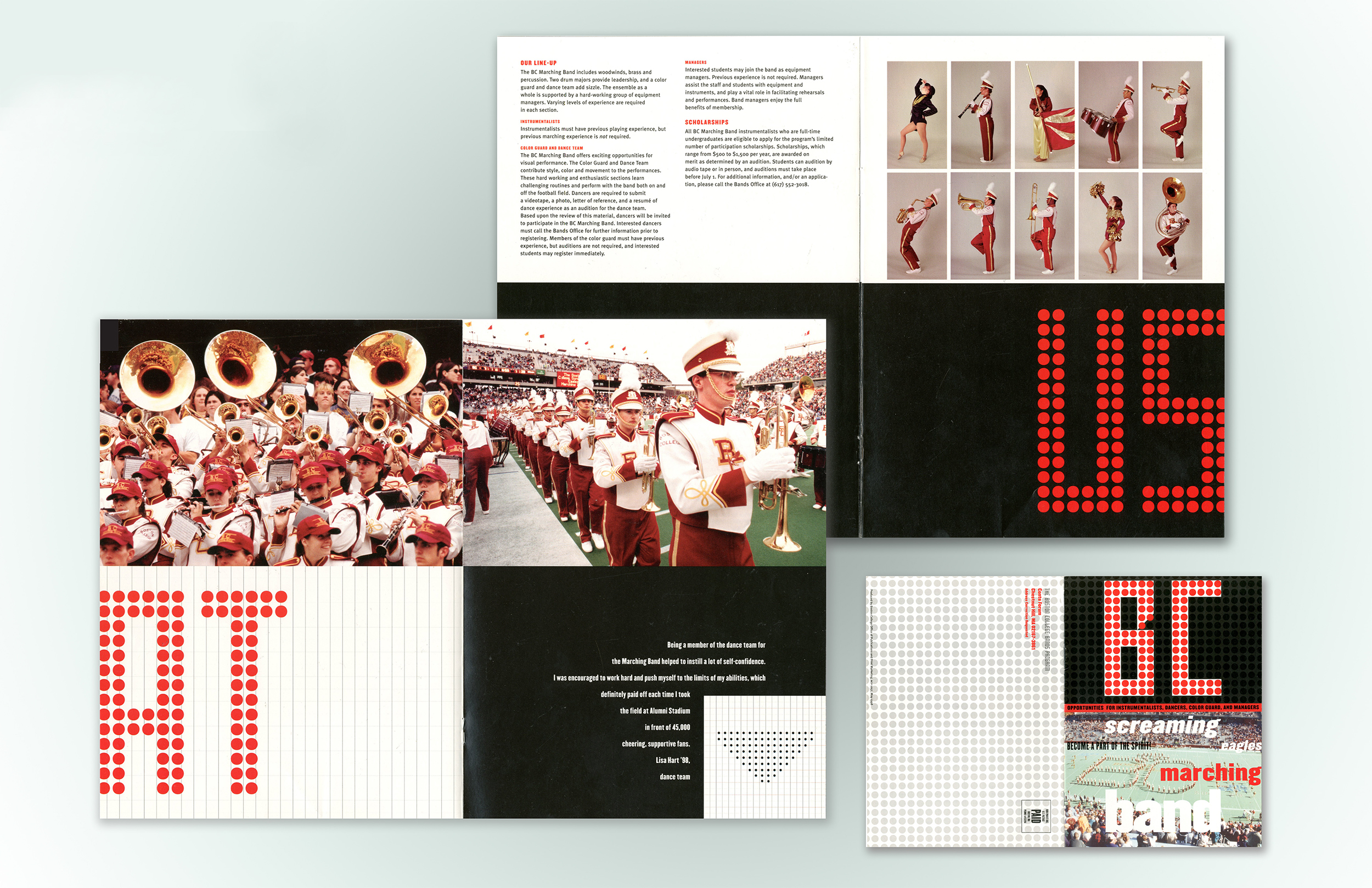 Marching Band brochure design for Boston College.