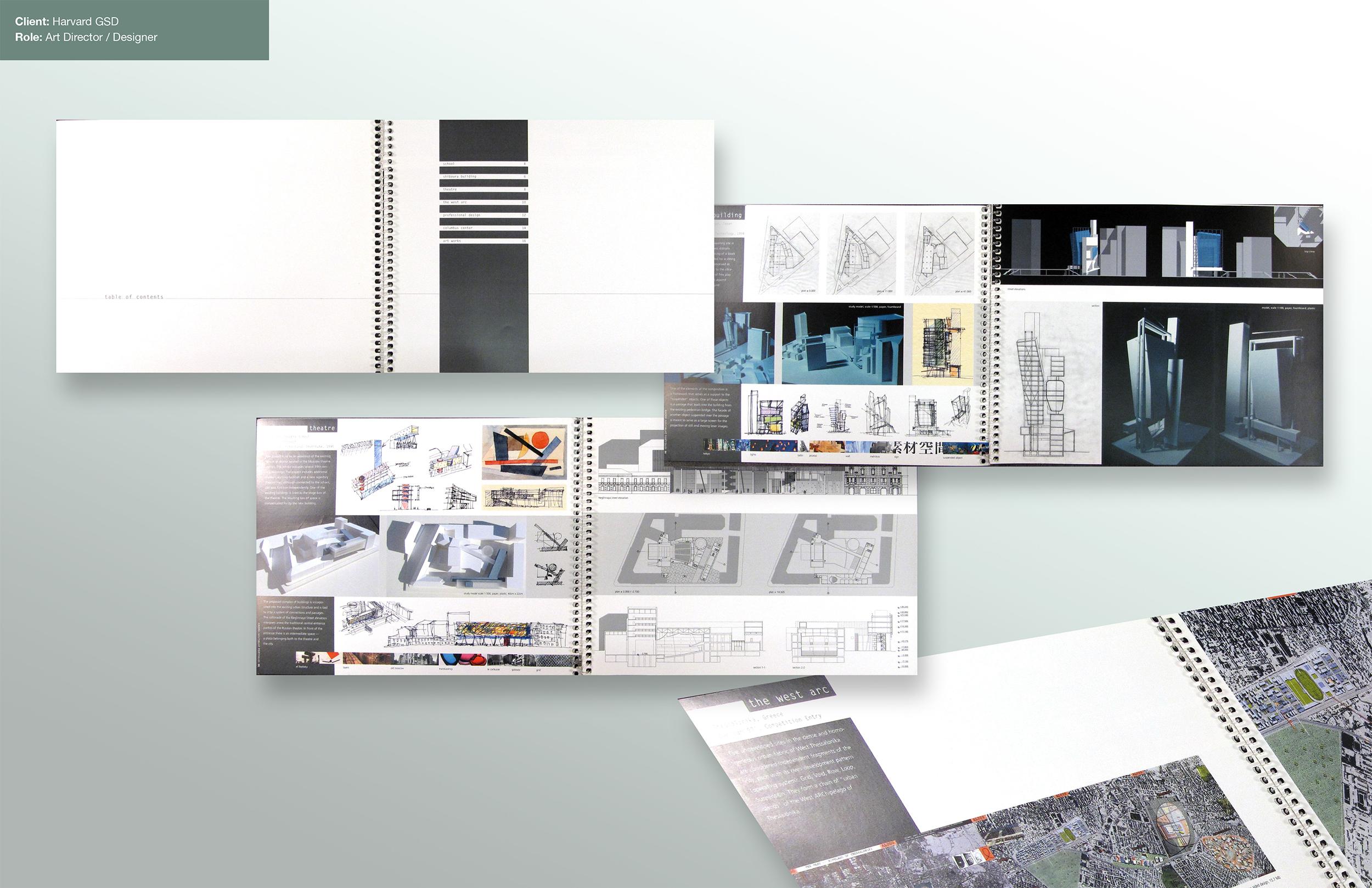 Portfolio design for GSD, Harvard.
