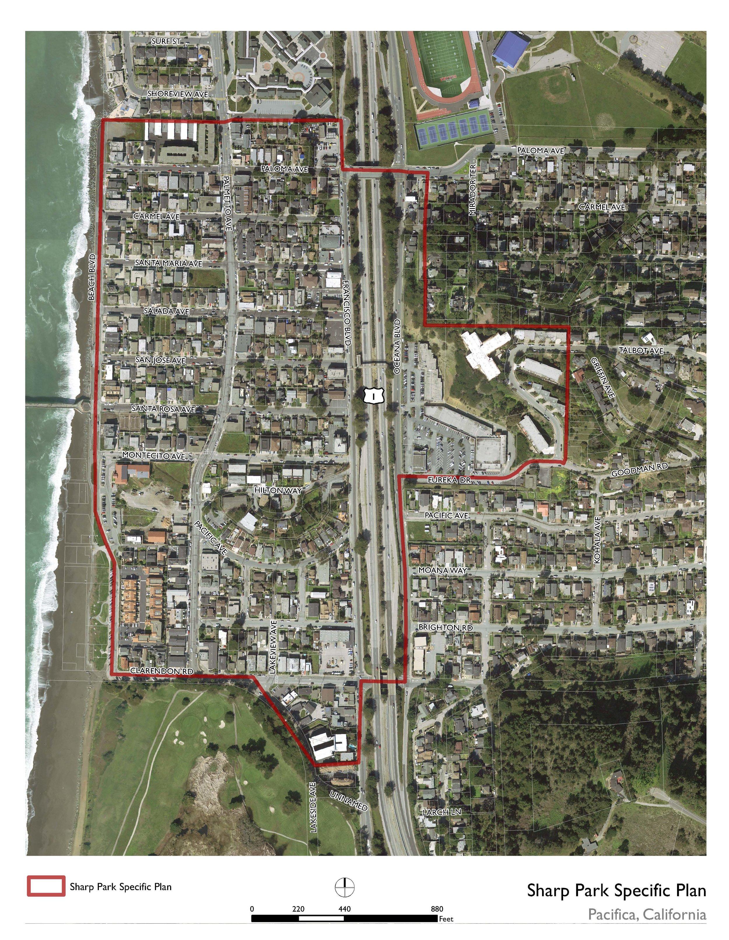 Sharp Park Specific Plan Area Boundary