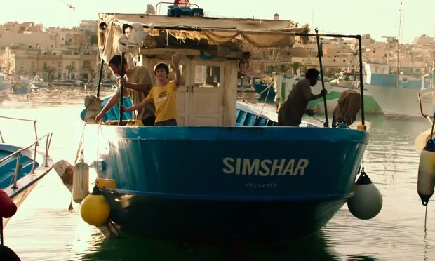 Simshar - Rebecca Cremona,  work presented by  Henri Guette   Young Theo is sent on his first trip with his Maltese sea faring family, but things go terribly wrong when the 'Simshar' sinks, leaving the crew stranded in the Mediterranean... Simultaneously, Alex - a medic reluctantly dispatched onto a Turkish Merchant vessel which has rescued a group of stranded African boat people between Malta and Italy - gets stuck on the boat as the countries wage a bureaucratic war over who should take in the migrants... The stories unravel in parallel and culminate tragically when the fishermen are traced down, but by that time there's only one survivor.