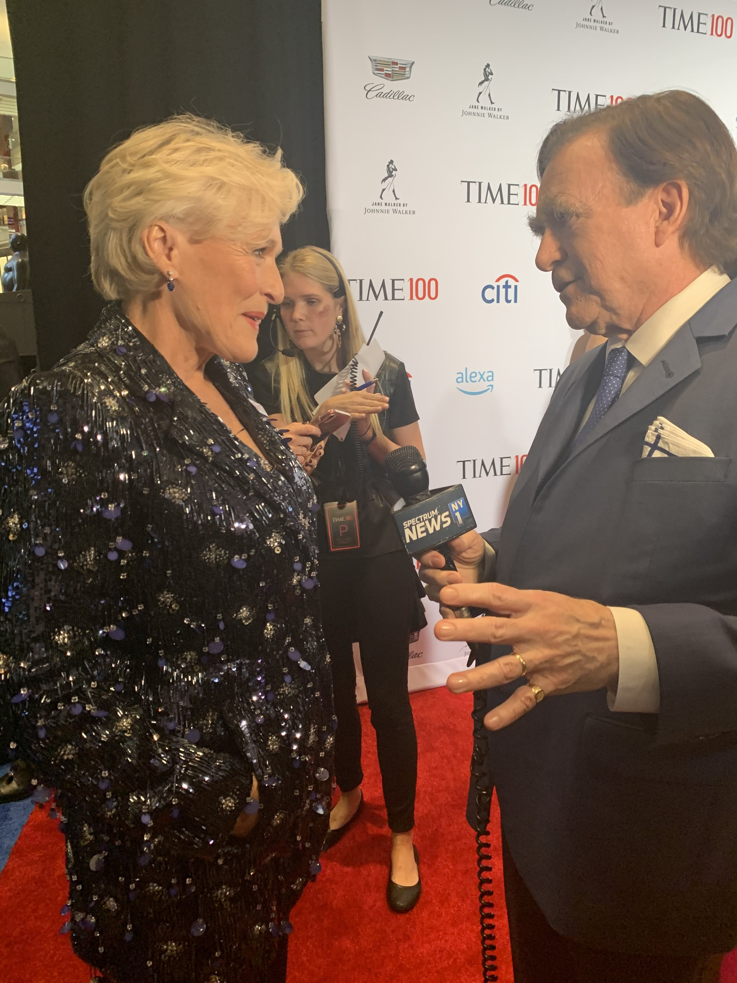 Celebrating the 100 most influential people… - George and his team attended the Time 100 Gala, honoring the 100 most influential people in the world. What an experience! George chats with past honoree and actress, Glenn Close.