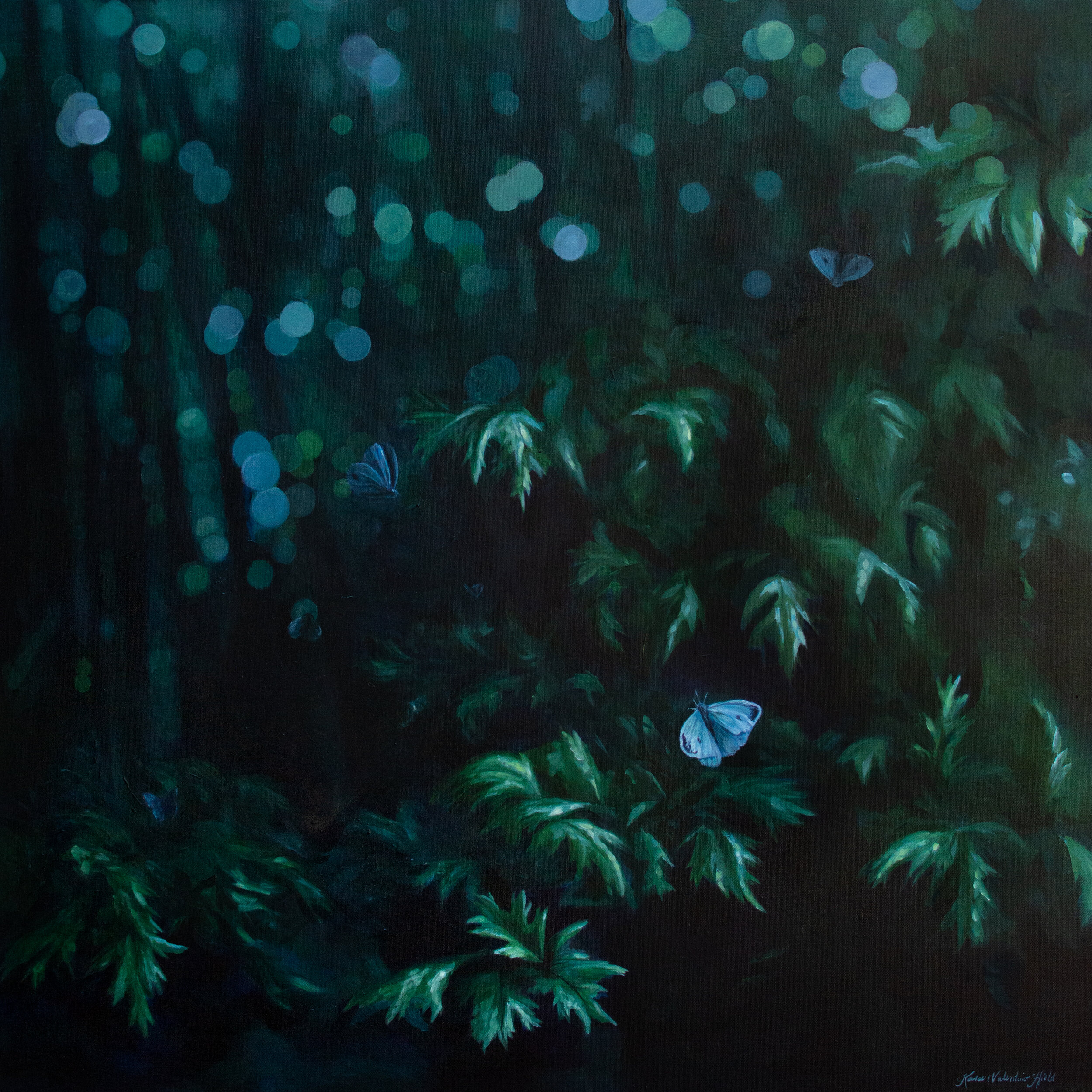 Woodland Ghosts - Abstract Nature Painting by Kara Valentino Ffield.
