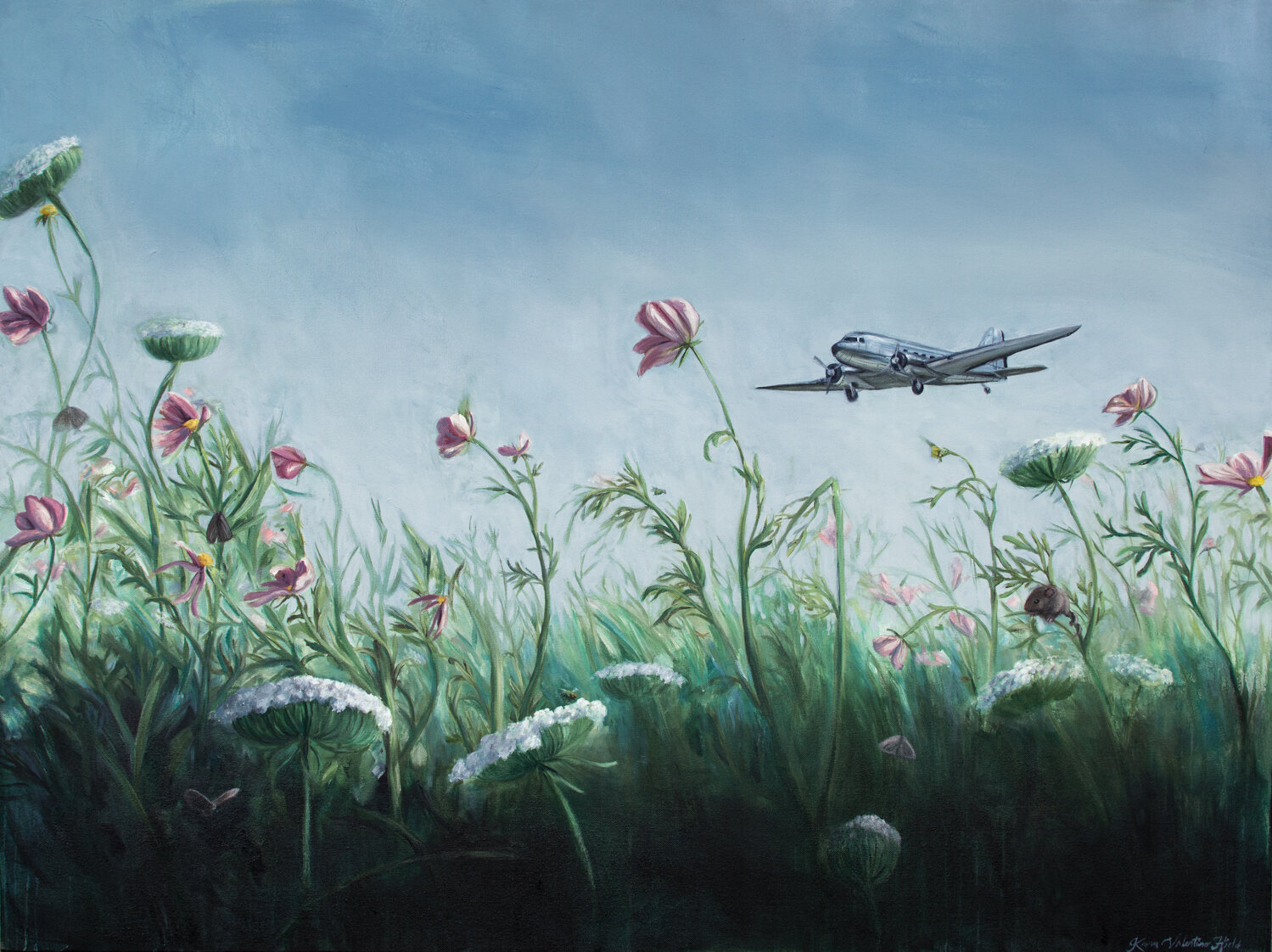 Cosmic Daydreams - Aviation and Nature Painting by Kara Valentino Ffield