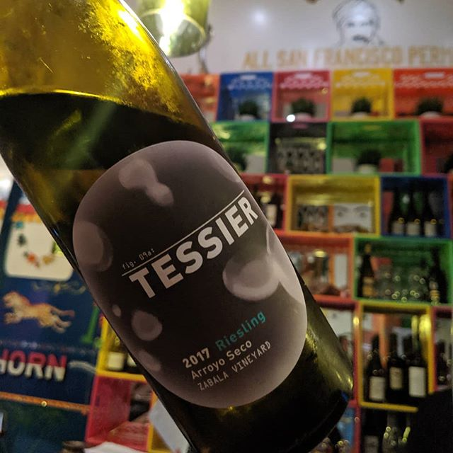 Keeping us cool on this beautiful San Francisco day. @tessierwinery 2017 Arroyo Seco Riesling. . . .  #westcoastrieslingsociety #rieslingwine #rieslinglover #riesling #errydayimriesling