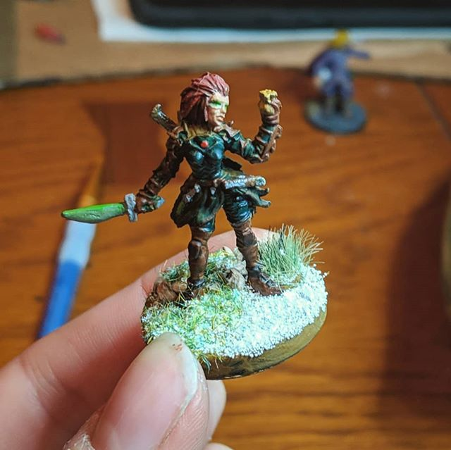 For my first time painting a miniature, I am super stoked. It was 2.5 hours of bourbon filled joy.