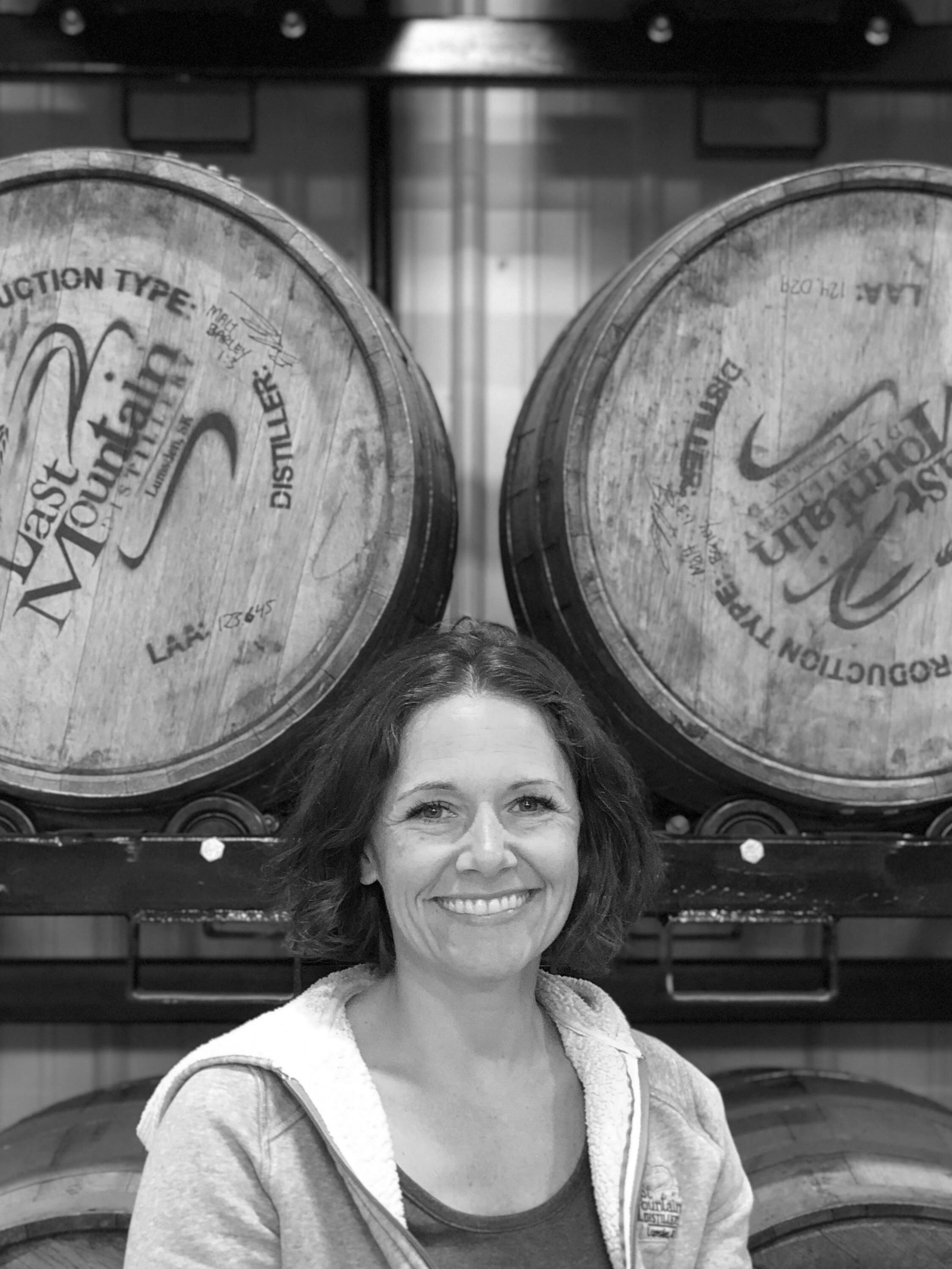 MEREDITH SCHMIDT - Co-Founder of Last Mountain Distillery   If Meredith isn't spending time with her two sons and dog Chloe, she can be found enjoying some yoga or a round of golf. She is Last Mountain's handstand specialist.   Favourite LMD Drink:  LMD Vodka with club soda and lime