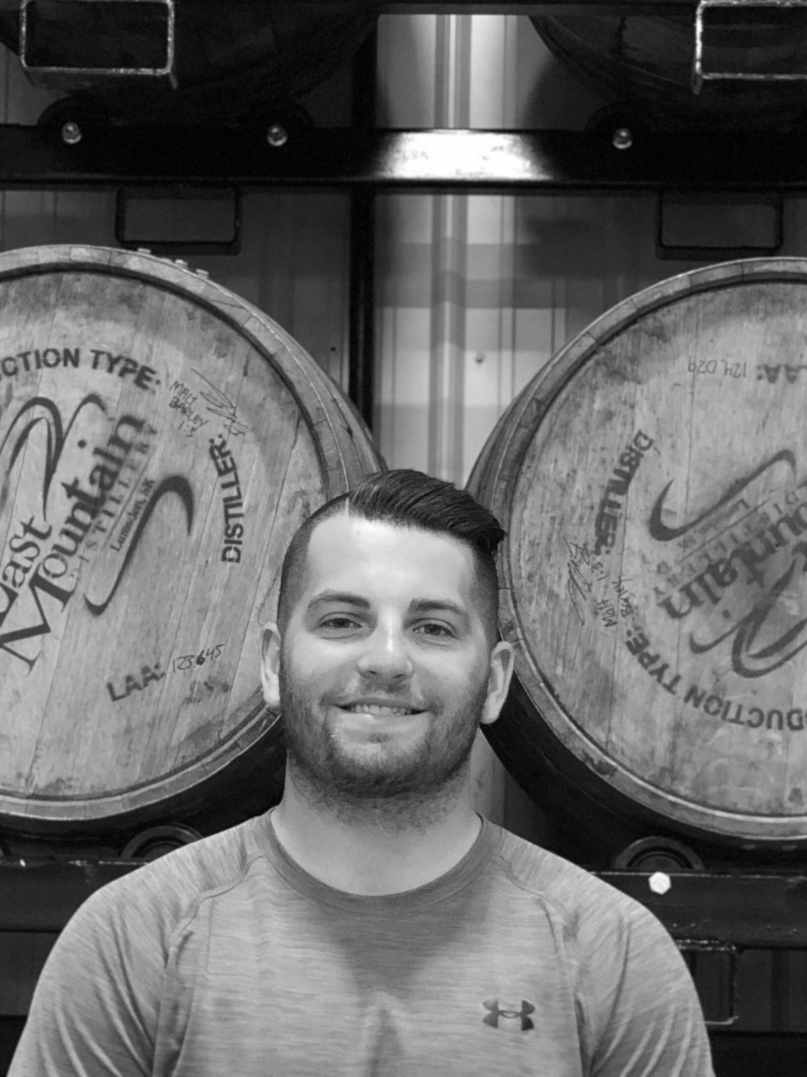 BRAEDEN R. - Head Distiller & GM of Operations   Braeden is a new father who loves his sports. When it comes to his lawn, he may have a touch of OCD. If your looking to enjoy a drink with someone Braeden is the first to join you.   Favourite LMD Product:  LMD   Cask Exchange Single Cask Whisky