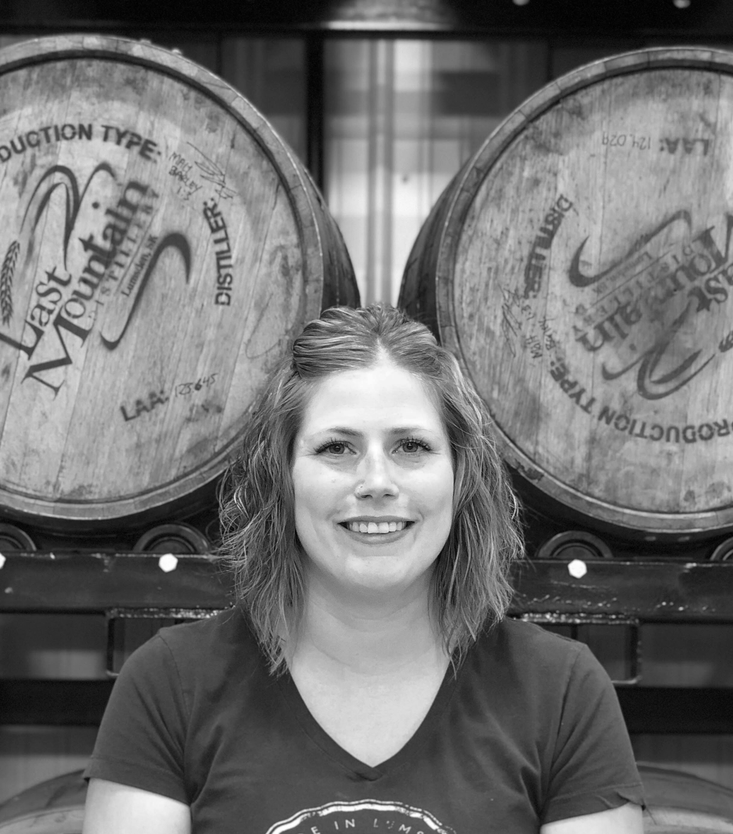JEN G. - Bottling Manager   Jen is a major animal lover here at Last Mountain. They have over 10 types of animals on their farm. Jen is never shy to get her hands dirty and likes to keep busy, so if she isn't at work, she is either working around the acreage or off doing something with her family.   Favourite LMD Drink:  LMD Dill Pickle Vodka caesar