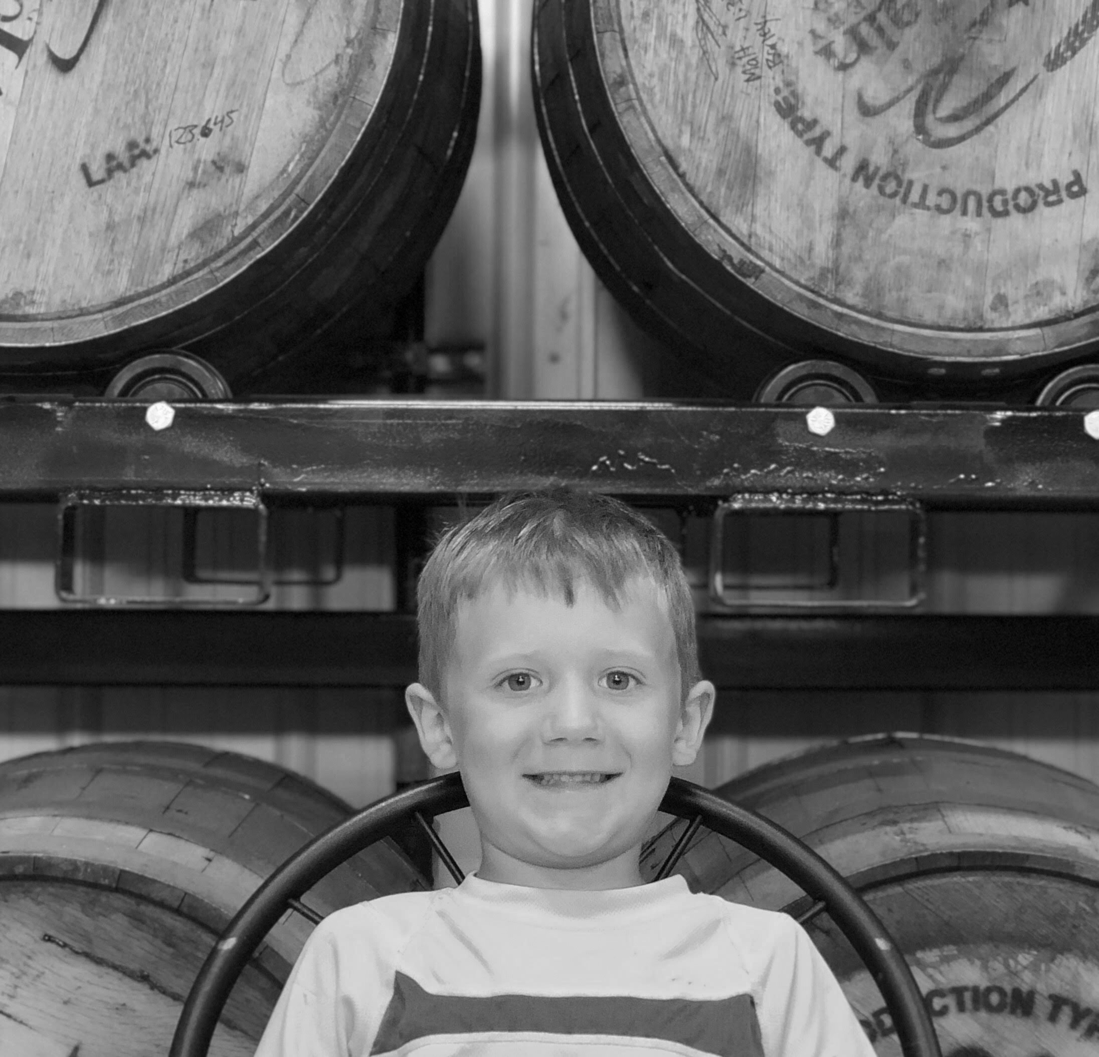 GRIFFIN SCHMIDT   Griffin is the youngest Schmidt child and arrived the same year Last Mountain Distillery moved into their new building in 2013. He took his first steps at Last Mountain and can also be found on the bottling line occasionally in the summer months.