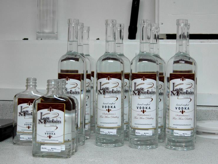 First vodka bottles.