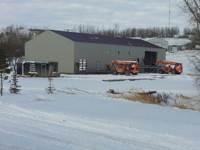 Building the LMD distillery.