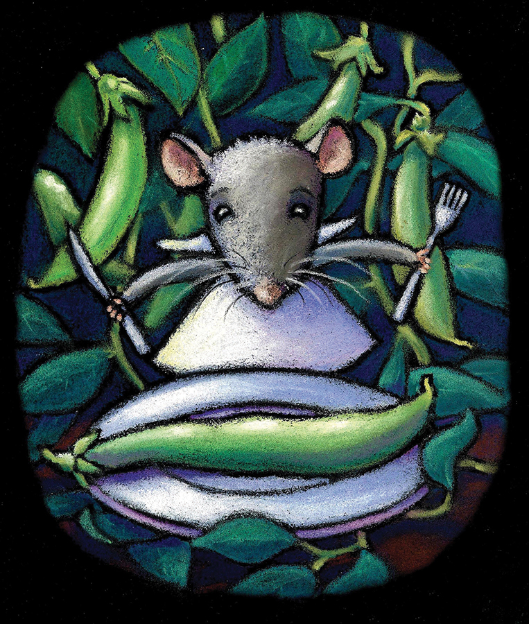 """""""Rattus Rattus"""".  Soft pastel on paper. Editorial illustration published by  Organic Gardener  magazine.  Archival prints available .."""