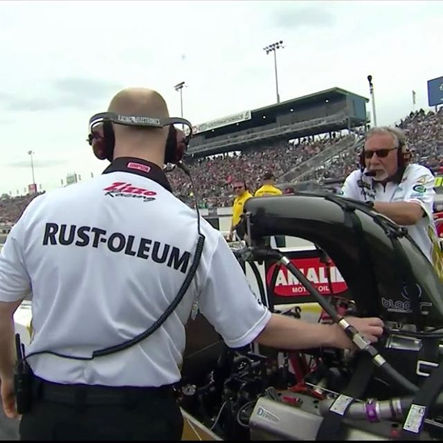 Badassery: Brought to you by @rustoleum. #NHRA