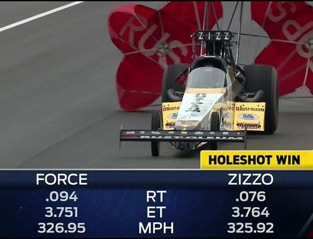 We're going to the semis at the #NHRA #Gatornationals!