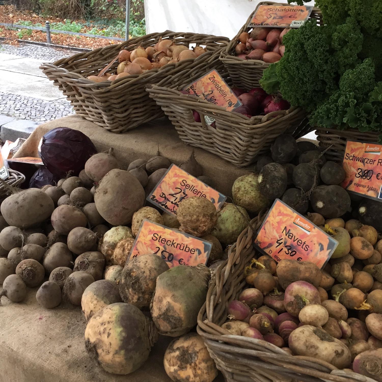 Familiar vegetables, new names, at a Berlin market