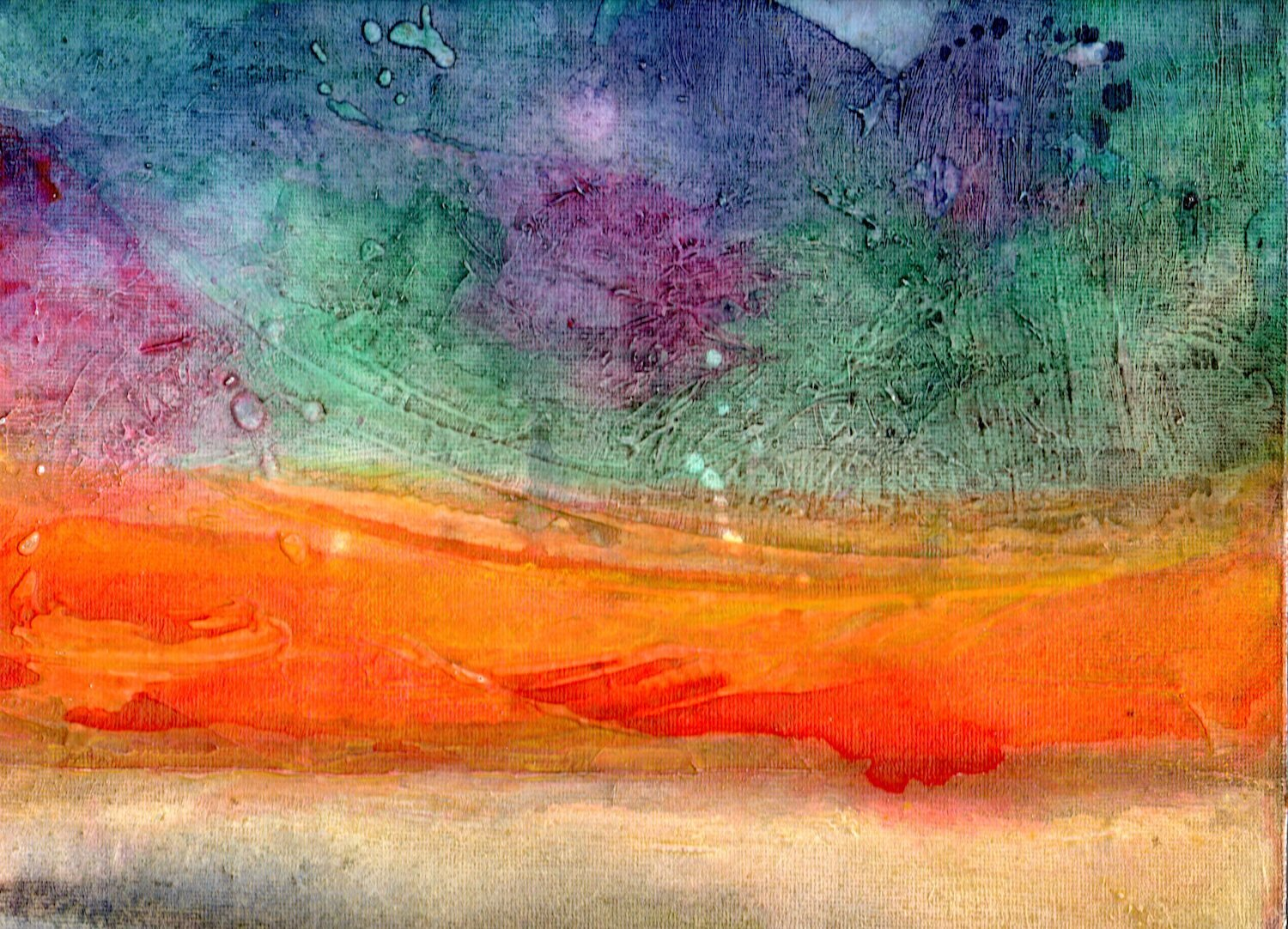 Into the light.  Original painting by Lynne Cameron