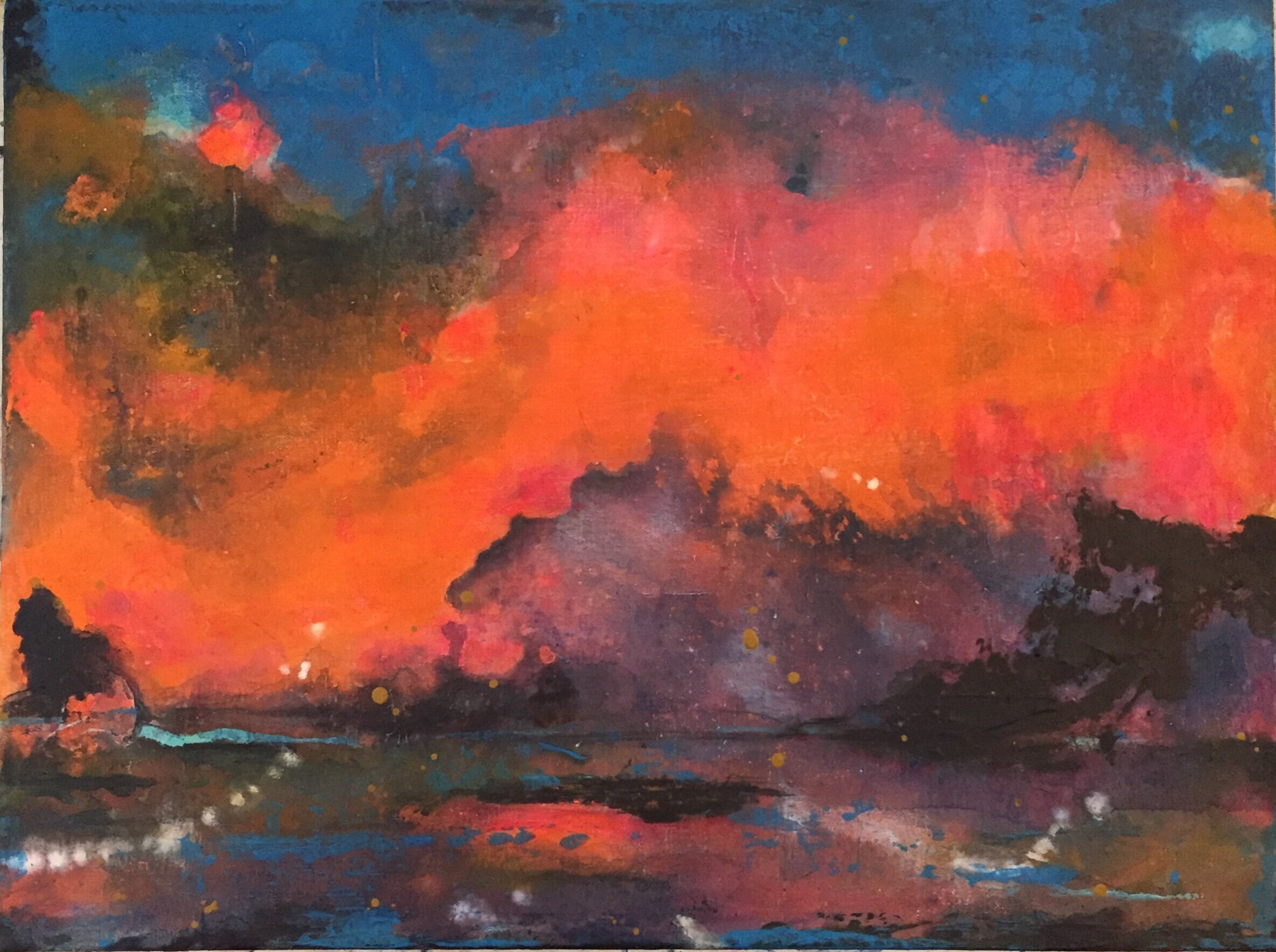 Painting from the series  After Nolde . Lynne Cameron.