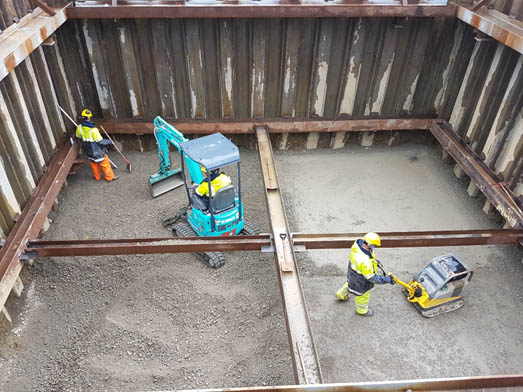 Excavation for the pumping station