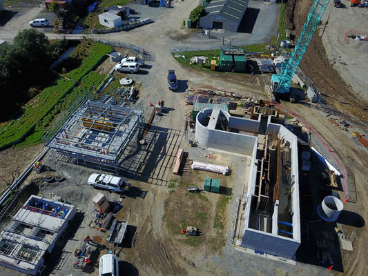Project well advanced with pumping station, screen channels and control building nearing completion