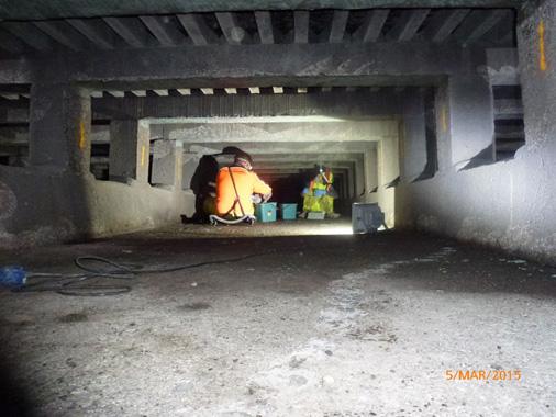 Tank underfloor repairs