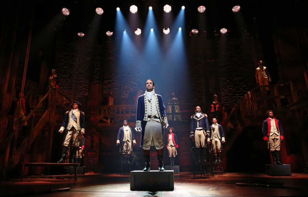 Hamilton portrayed in the broadway musical (Credit: Joan Marcus, USA Today)