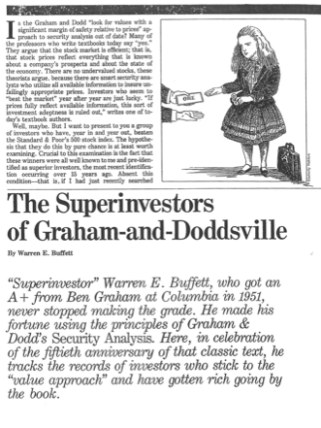 The superinvestors of Graham-andDoddsville serve as an example of ergodicity