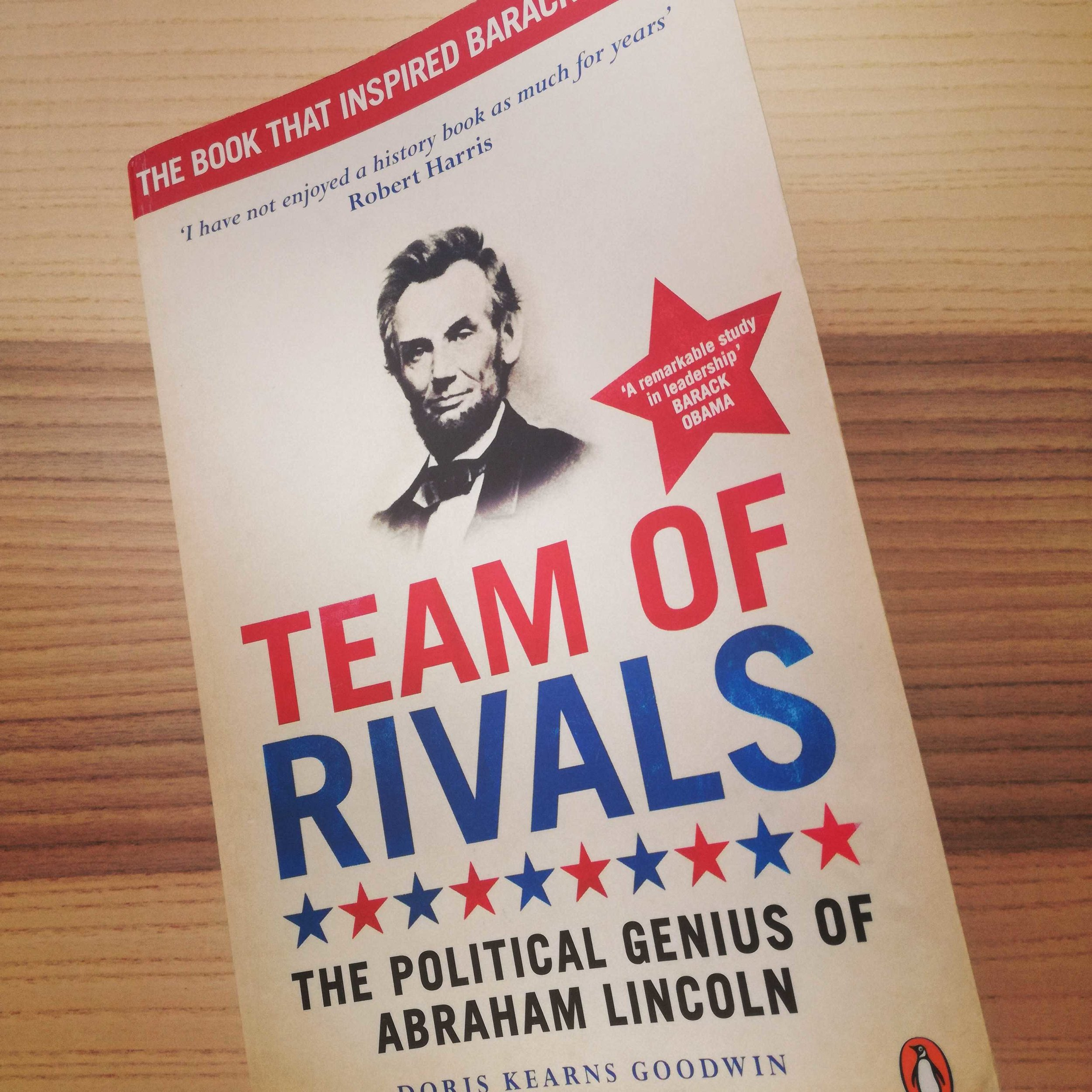 My first copy of Doris Kearns Goodwin's Team of Rivals, bought at Skoob Books in London