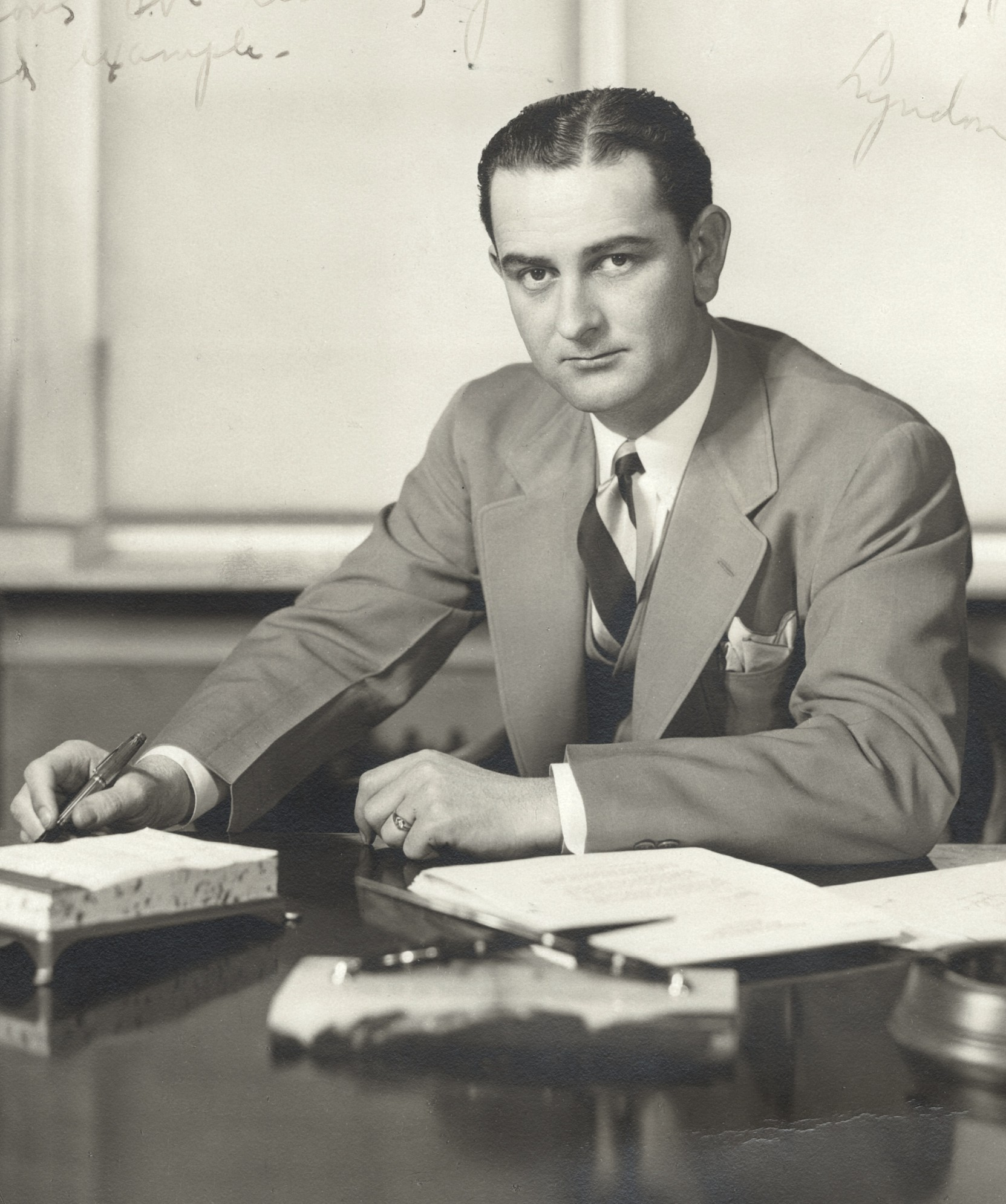 Lyndon Johnson as congressman in 1938, right after he led the successful projects at NYA.