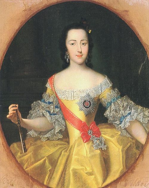 Young Catherine at sixteen, at the Russian court