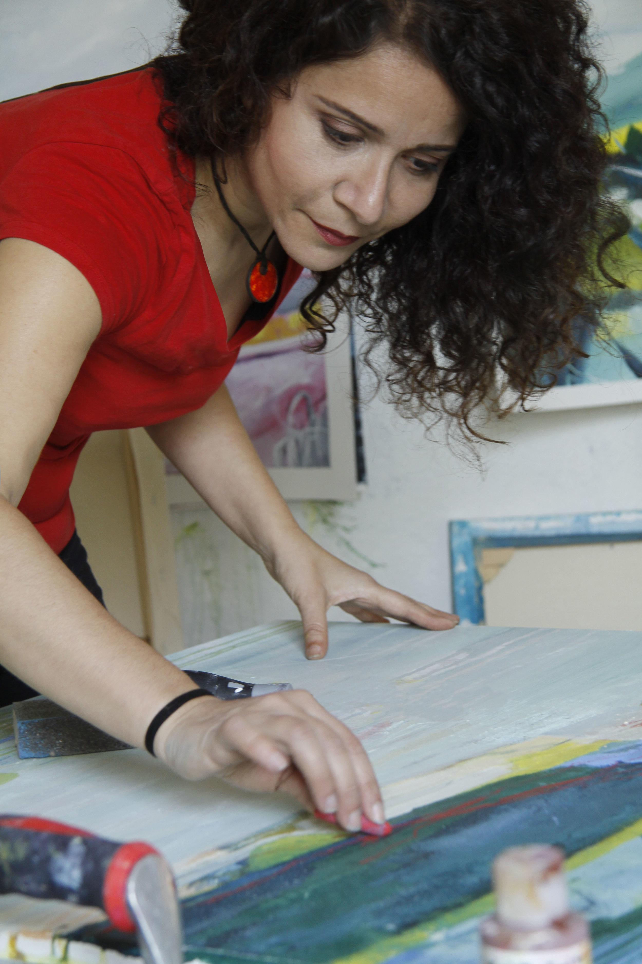 Stefania Boiano in her studio.jpg