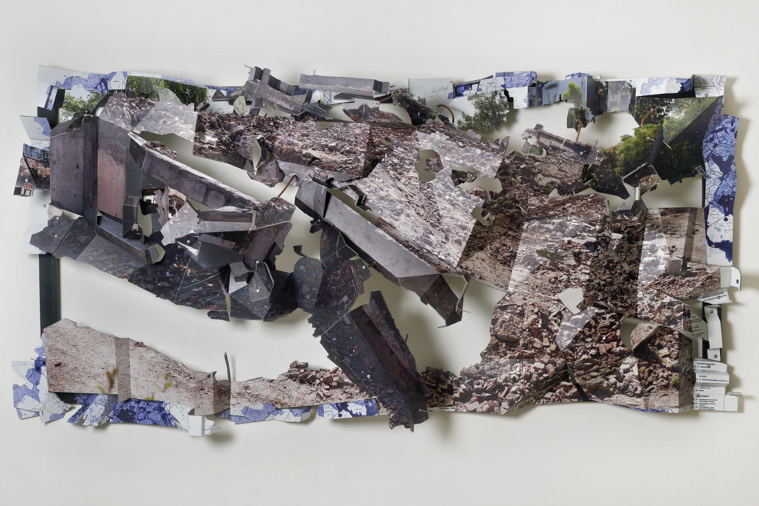 Urban-ruin at Ashram Chowk -1, 2013.