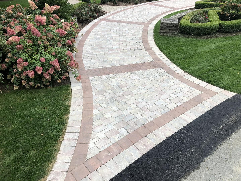 Landscape design and award-winning driveway in Halfmoon, NY
