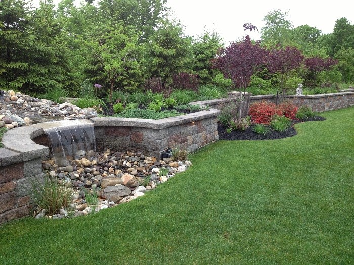 Stunning water feature in Halfmoon, NY