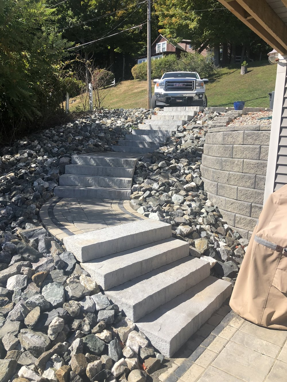 Walkway and steps in Halfmoon, NY
