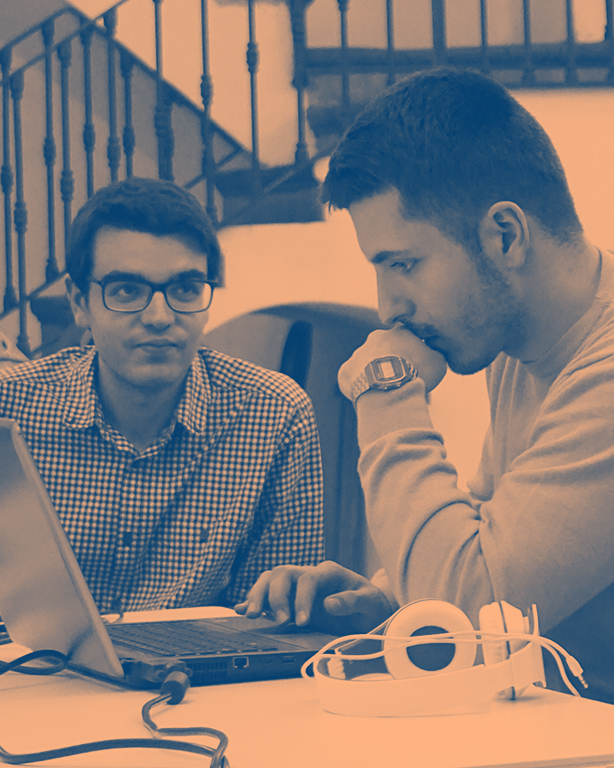 Pair-Programming - The key to the success of our courses is both our world class instructors and our motivated fellows and their ability to help each other.We match instructors and fellows according to their goals and ensure that they work together to push their projects beyond their comfort zone.Meet our alumni