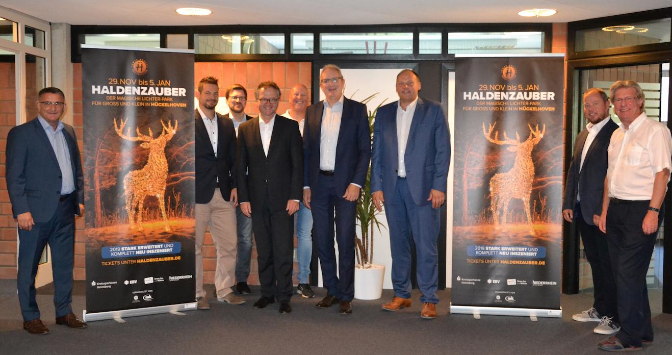 Das HALDENZAUBER-Team und die Sponsoren bei der Pressekonferenz am 30.08.2019