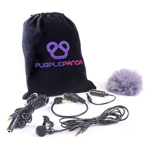 Purple Panda Lapel Mic