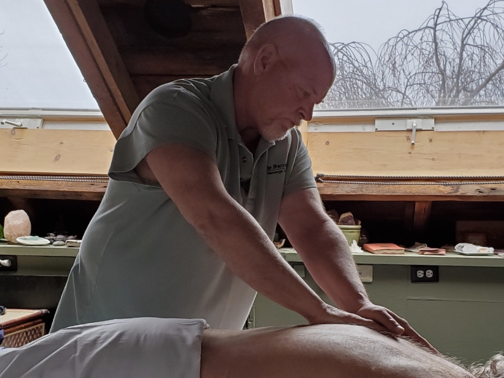 Massage - There are more than 250 variations of massage, bodywork, and somatic therapies and many practitioners utilize multiple techniques. The application of these techniques may include, but is not limited to, stroking, kneading, tapping, compression, vibration, rocking, friction, and pressure to the muscular structure or soft tissues of the human body. This may also include non-forceful passive or active movement and/or application of techniques intended to affect the energetic systems of the body. The use of oils, lotions, and powders may also be included to reduce friction on the skin. Click here for more information on what to expect.