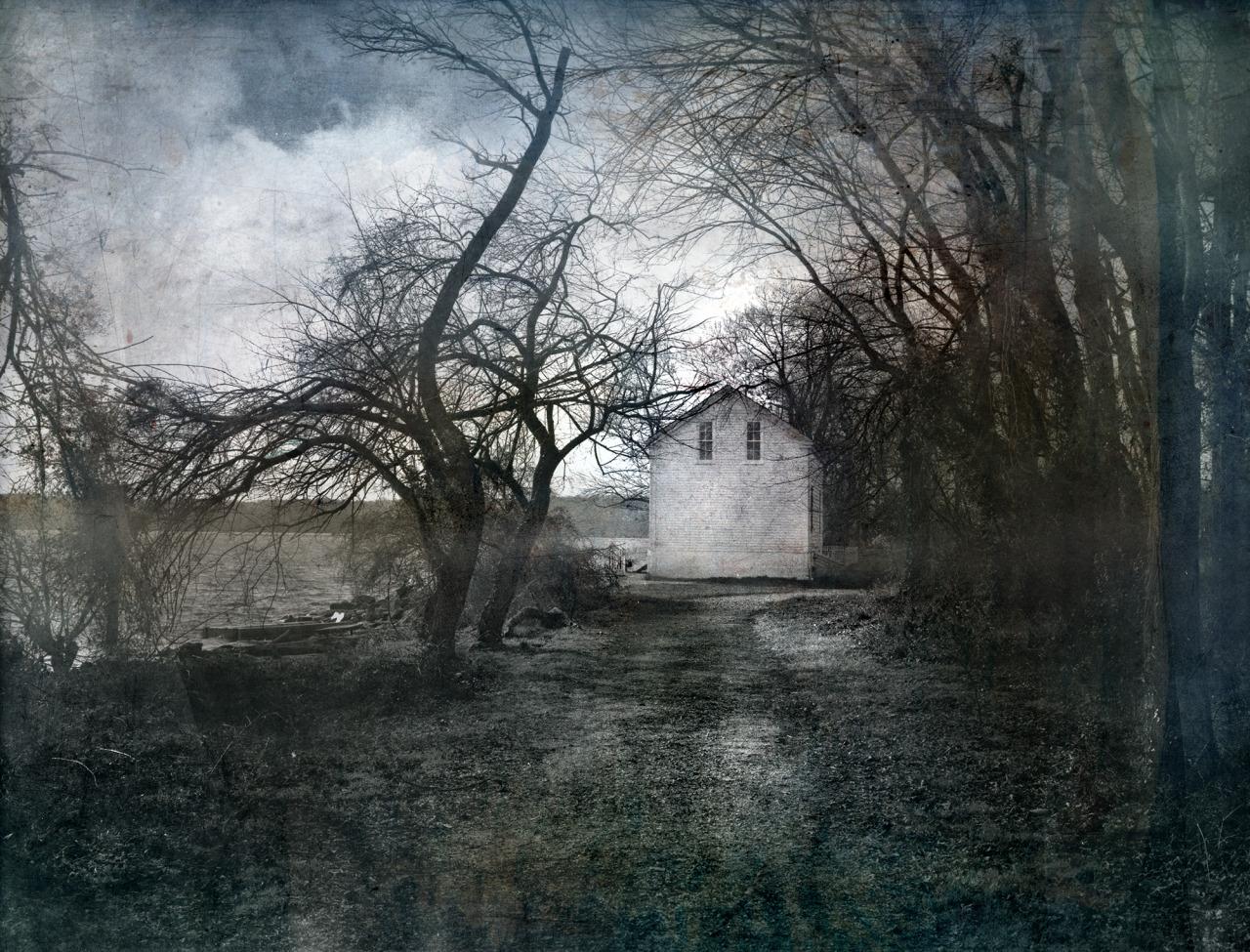 Landscape at Jones Point   61 x 79     mixed media on panel    2015