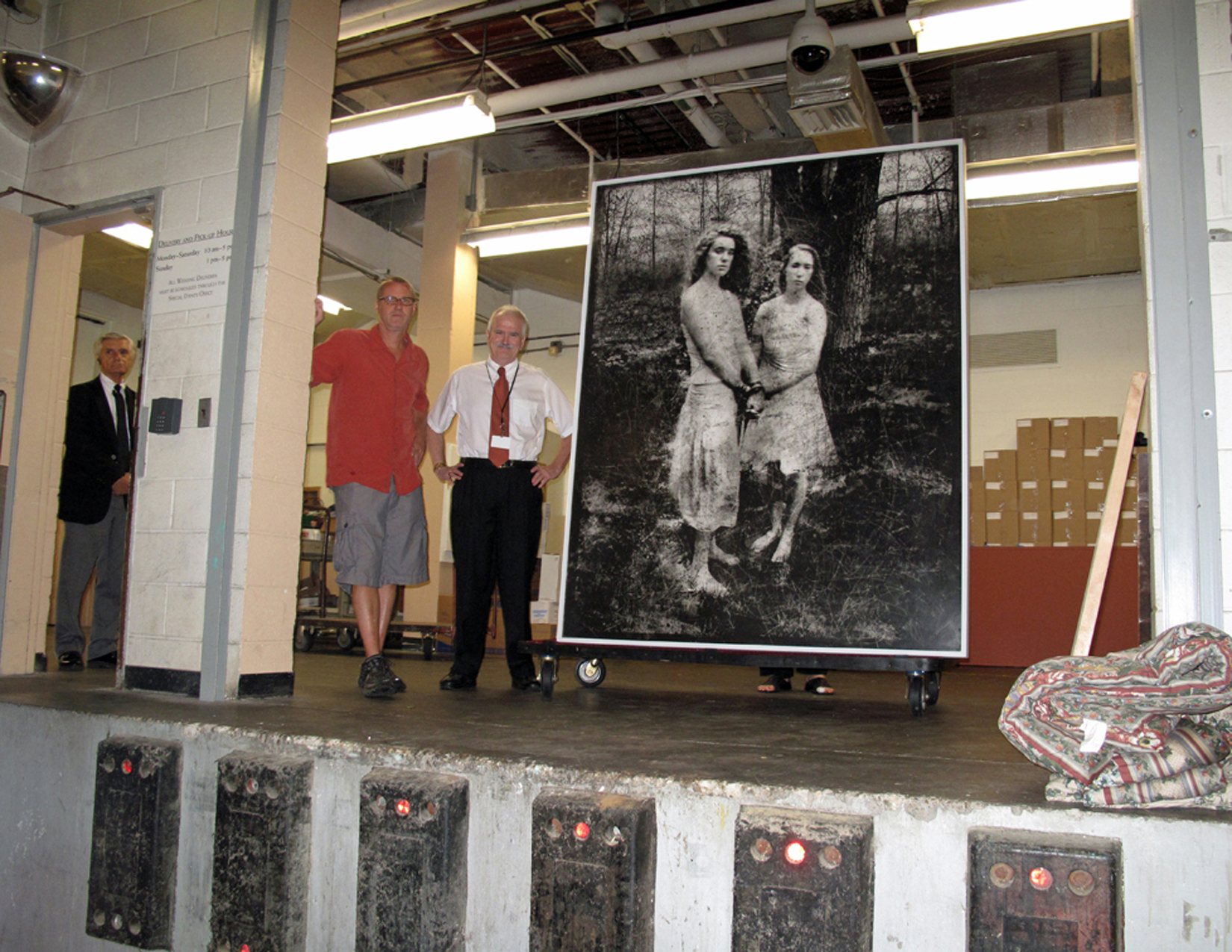 Delivering Portrait of Scout and MK to the Chrysler Museum   2015