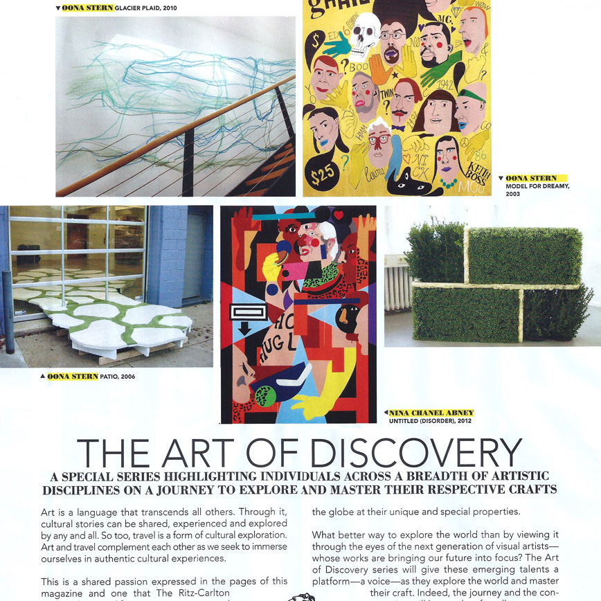 American Express and The Ritz-Carlton, The Art of Discovery, Departures magazine, September 2012.