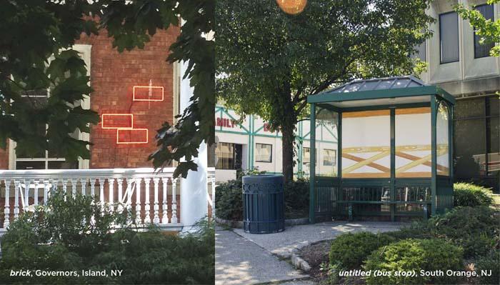 brick, governor's island, ny ; untitled (bus stop), south orange, nj