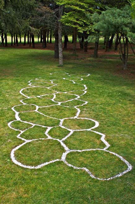 meander, grass and gravel; 12' x 50'; Huntington NY (Long Island), 2012
