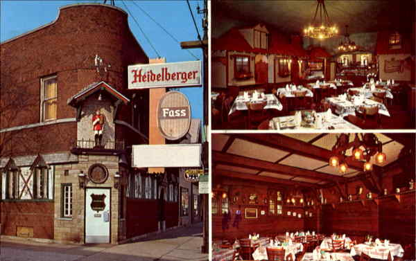 Heidelberger Fass restaurant in Chicago was one of many German restaurants specializing in dishes such as Sauerbraten. It is sadly now closed.